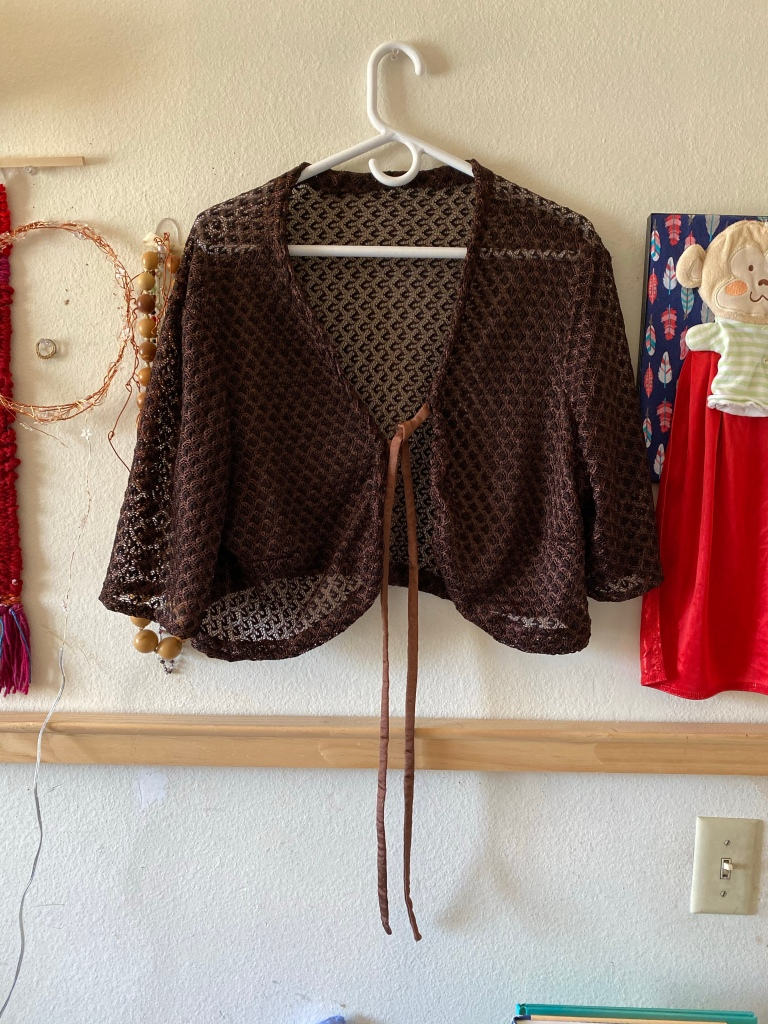 Brown lace shrug