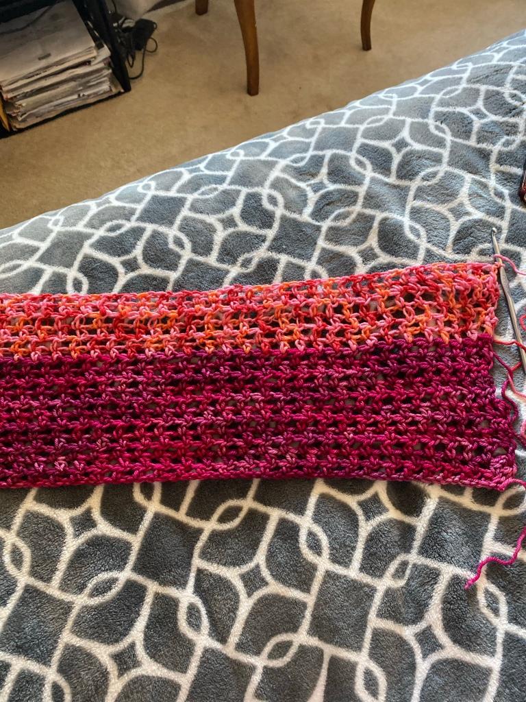 Striped crochet project