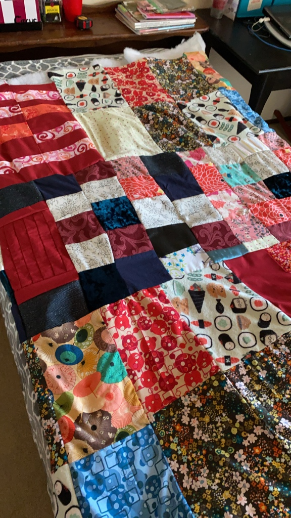 Quilt top before  everything was sandwiched together