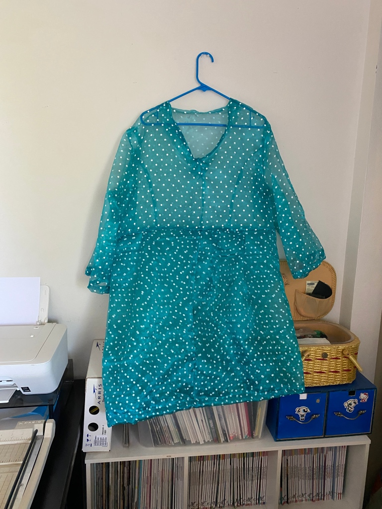 Dotted green dress